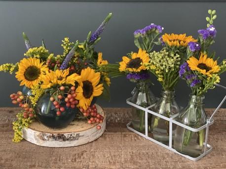 Sunflower Votive Arrangements