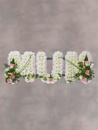Mum in White Letters