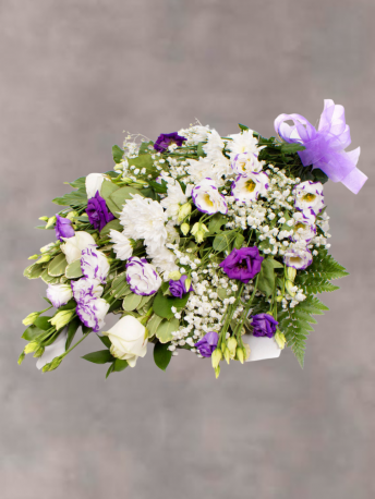 White and Purple Funeral Flowers